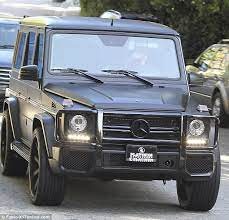 Kanye surprised kim with a real mercedes after the couple rented it while on vacation in miami. Kim Kardashian S Matte Black G63 Amg At Thanksgiving Autoevolution