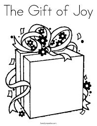 Small Picture The Gift of Joy Coloring Page Twisty Noodle