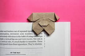 fold an origami bulldog bookmark