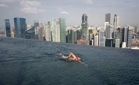 Infinity Pool at Marina Bay Sands Hotel Amusing Planet