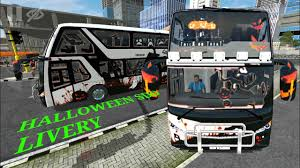 Cara menggunakan (shd, hd dan xhd). Bimasena Sdd Halloween Livery Corak Bussid V2 9 Youtube
