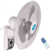 oscillating wall fan. Prem-I-Air 16 Inch Oscillating Wall Fan With Remote Control And Timer   Office Fans HSD Online N