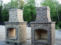 brick prefab outdoor fireplace