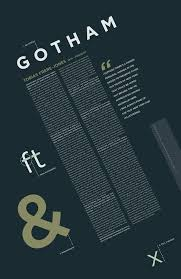 Fonts Posters Font Study Gotham By Sally Carmichael Via Behance Typography