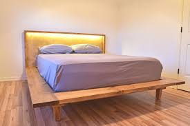 modern platform bed. King Size Platform Bed With Attached Nightstands Contemporary Storage Queen Modern