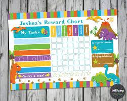 Dinosaur Potty Training Reward Chart Dinosaur Personalised Reward Potty Training Chart Chore