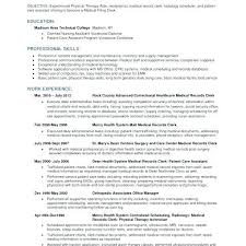 Radiology Clerk Sample Resume | Cvfree.pro