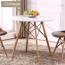 80cm round dining table eiffel style wood legs office coffee lounge bar white