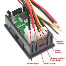 led volt & amp meter (0 00 to 100 vdc 3 2 wire) vetco electronics digital volt amp meter wiring diagram Volt Amp Meter Wiring Diagram #14
