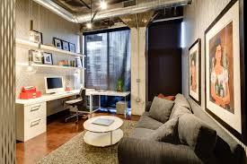 loft home office. Dwelling Designs Warehouse District Loft Industrial-home-office Home Office F