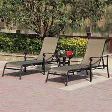 darlee set of 2 monterey sling seat aluminum patio chaise lounges lowes two for around