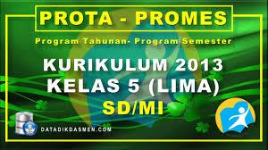 Maybe you would like to learn more about one of these? Prota Dan Promes Kelas 5 Sd Mi Kurikulum 2013 Tahun Pelajaran 2021 2022 Datadikdasmen Com