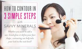 how to contour in 3 simple steps with savvy minerals