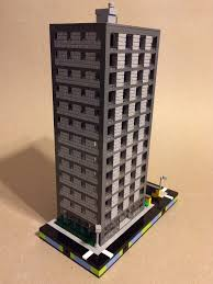 lego office building. Micro Lego Office Building W. Underground Parking | By DEMŌ F