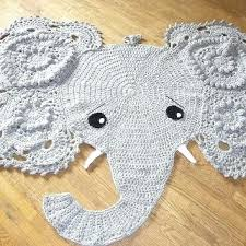 elephant baby mat crochet elephant rug nursery decor home decor elephant play m elephant baby mat