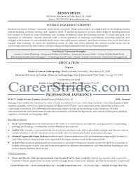Resume Science Teacher Sample High School Teacher Resume Example