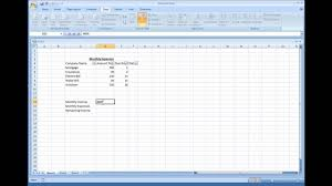 expense sheet microsoft excel creating a simple expense sheet youtube