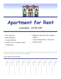 Apartment Flyer Ideas Rental Ad Template Woodnartstudio Co