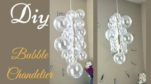 diy glam bubble chandelier that is quick and easy to make