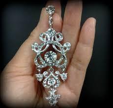chandelier bridal earrings clip on earrings victorian