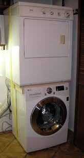 Use custom brace to stack incompatible washer and dryer  Mud RoomsLaundry  ...