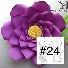 Pearl S Crafts Paper Flower Templates Hard Copy Yaf Template 24 For Diy Paper Flower Backdrops