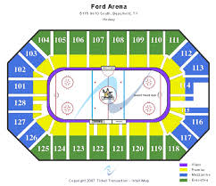 Ford Park Arena Tickets Ford Park Arena Seating Chart