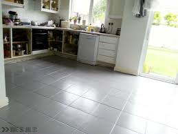 Painting Floor Tiles In Kitchen Painted Tile Floor No Really Make Do And Diy