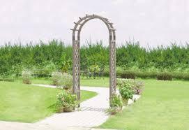 veg trug wooden garden arch grey
