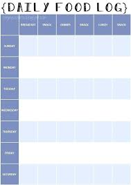 Course Daily Food Log Printable Record Template Waste Journal Excel