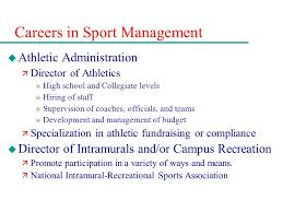 Sports Management Careers Chapter 13 Sport Careers In Management Media Performance