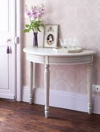 awesome half moon table with best 25 console ideas in round entryway designs 10
