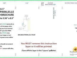 Quad Fold Brochure Template Word 4 Panel Brochure Template Gate Fold Z 9 X 11 X 17 Google Docs
