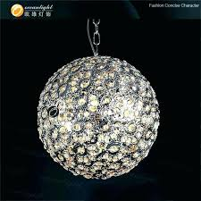 full size of led crystal ball pendant lighting light chandelier sparkling floating sphere with crystals chandeliers