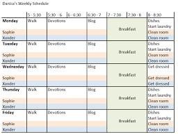 My Weekly Schedule Ramblings Of An Undercover Tck 2012 Goals Weekly Schedule