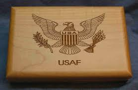military gift box personalized keepsake box laser engraved army navy air force marines