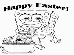 Free Printable Sponge Bob Easter Coloring Pages Coloring Home