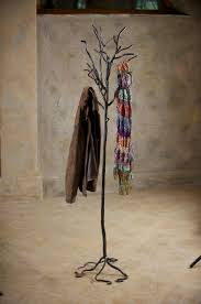 Wrought Iron Standing Coat Rack Wrought Iron Twig Coat Rack Free Standing 18