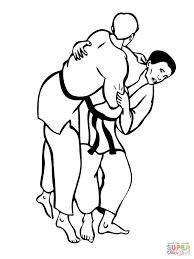 Coloriage Combat De Judo Coloriages Imprimer Gratuits