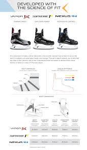 Inline Hockey Skate Size Chart 17 Judicious Easton Ice Skate Sizing Chart