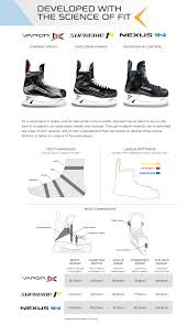Bauer Vapor Size Chart 17 Judicious Easton Ice Skate Sizing Chart