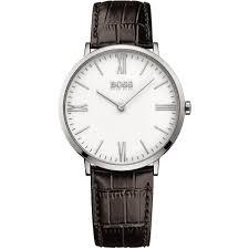 buy the men s hugo boss 1513373 watch francis gaye jewellers men 039 s jackson brown strap watch white dial
