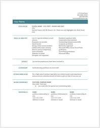 Doc Resume Templates Creative Free Resume Template Doc Formal Word Templates Cv Samples 22