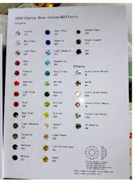 Bead Color Chart Us 8 0 20 Off Yanruo Hot Fix Crystal Card Stones And Crystals Catalog Rhinestones Color Chart Decoration Diy Crystals Beads In Rhinestones From Home