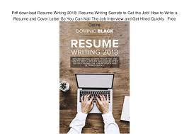 free online resume writing pdf download resume writing 2018 resume writing secrets to