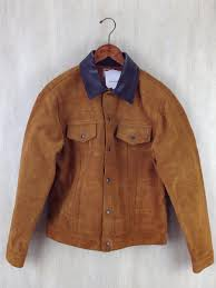 rough out leather western jacket 42 スウェード brw ロングホーン
