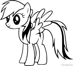 Free printable rainbow dash coloring pages for kids that you can print out and color. Simple Rainbow Dash Coloring Page Coloringall