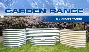 corrugated garden bed