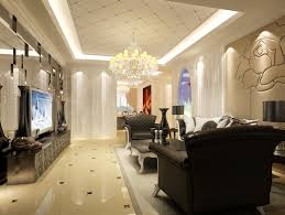 decorative gypsum ceiling tiles for black and white living room