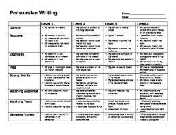 Persuasive Essay Rubric 2 Persuasive Essay Rubric Under Fontanacountryinn Com